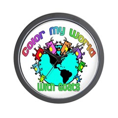 Goat-Color My World Wall Clock