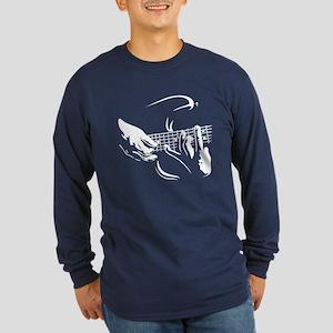 Guitar Hands Long Sleeve Dark T-Shirt