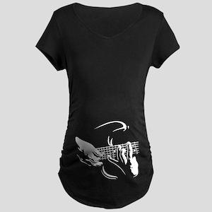 Guitar Hands Maternity Dark T-Shirt