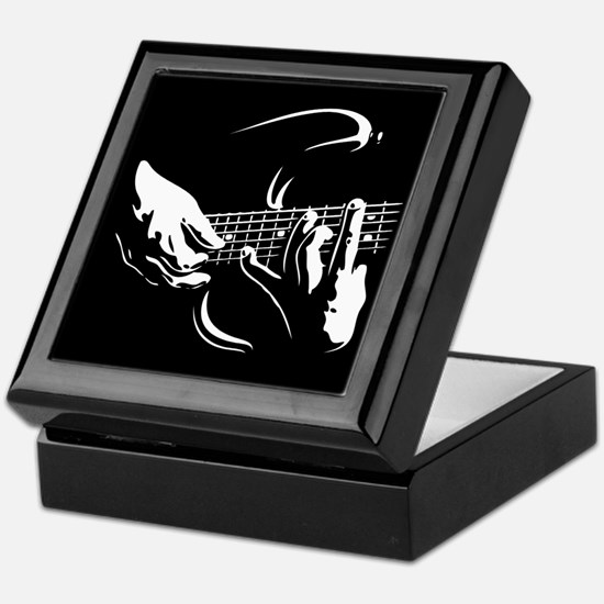 Guitar Hands Keepsake Box