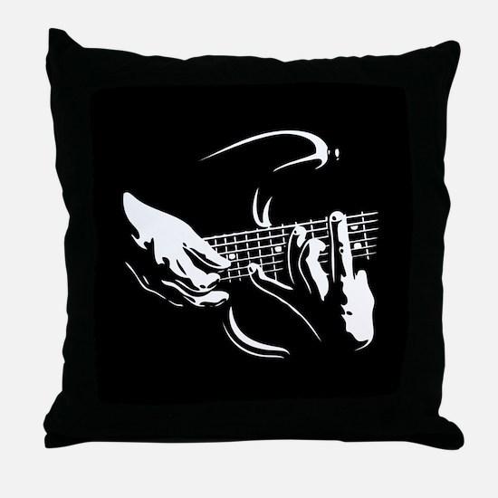 Guitar Hands Throw Pillow