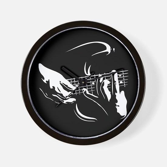 Guitar Hands Wall Clock