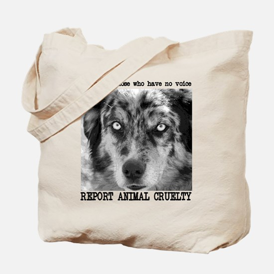 Report Animal Cruelty Dog Tote Bag
