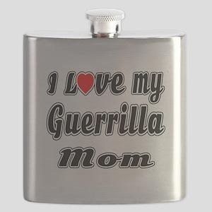 I Love My GUERRILLA Mom Flask