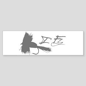 I Fly Fish Bumper Sticker