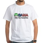 Obama 1up for America White T-Shirt