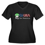 Obama 1up for America Women's Plus Size V-Neck Dar