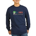 Obama 1up for America Long Sleeve Dark T-Shirt