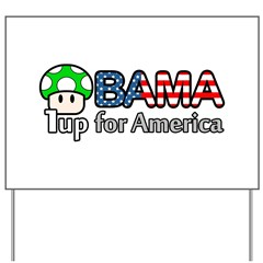 Obama 1up for America Yard Sign