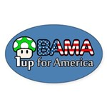 Obama 1up for America Oval Sticker (10 pk)