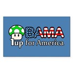 Obama 1up for America Rectangle Sticker 50 pk)