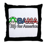 Obama 1up for America Throw Pillow