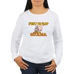 Fist Bump for Obama Women's Long Sleeve T-Shirt