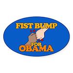 Fist Bump for Obama Oval Sticker