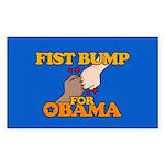 Fist Bump for Obama Rectangle Sticker 50 pk)