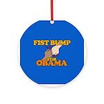 Fist Bump for Obama Ornament (Round)
