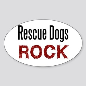 Rescue Dogs Rock Oval Sticker