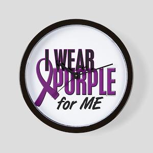 I Wear Purple For ME 10 Wall Clock