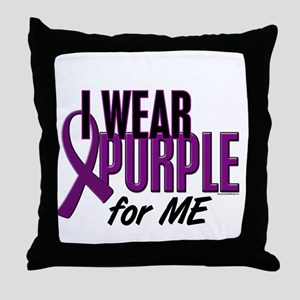 I Wear Purple For ME 10 Throw Pillow