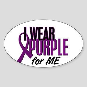 I Wear Purple For ME 10 Oval Sticker