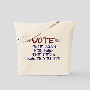 Election Media Endorsement Tote Bag
