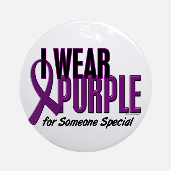 I Wear Purple For Someone Special 10 Ornament (Rou