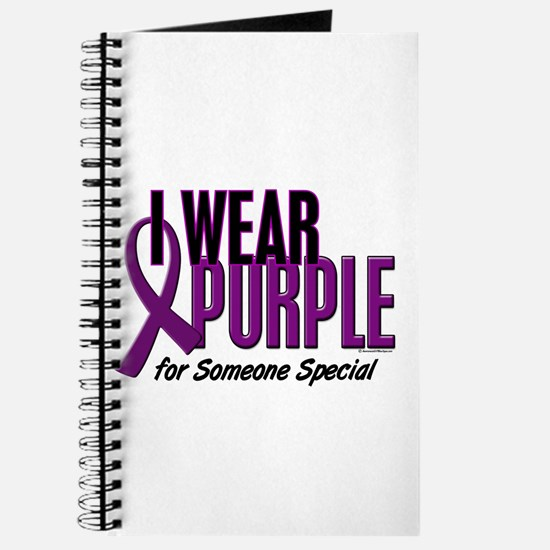 I Wear Purple For Someone Special 10 Journal