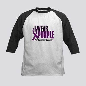 I Wear Purple For Someone Special 10 Kids Baseball