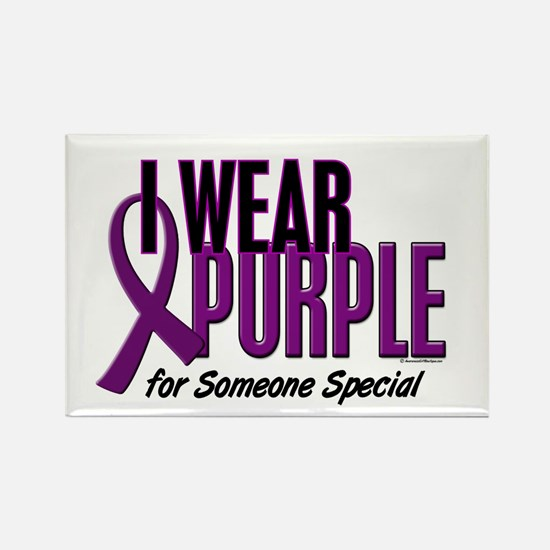 I Wear Purple For Someone Special 10 Rectangle Mag