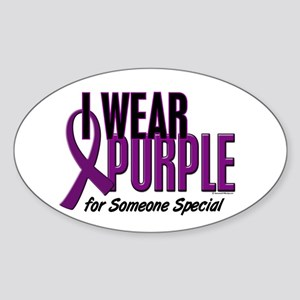 I Wear Purple For Someone Special 10 Sticker (Oval