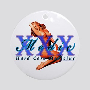 Medic Pinup Girl Ornament (Round)