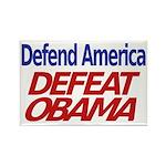 Defend America, Defeat Obama Rectangle Magnet