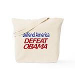 Defend America, Defeat Obama Tote Bag