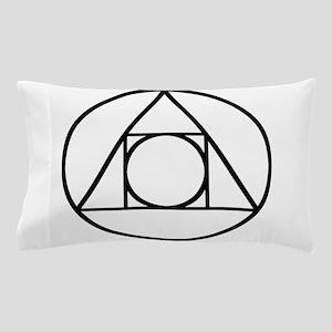 Circle Triangle Square Alchemy Seal of Light Pillo