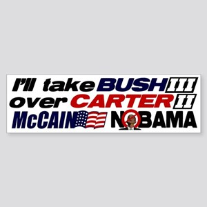 Bush 3 vs Carter 2 Bumper Sticker