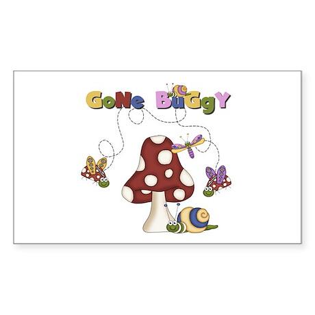 Gone Buggy Rectangle Sticker 10 pk)