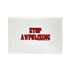 Stop Awfulizing Rectangle Magnet (100 pack)