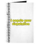 I Negate Your Disputation Journal