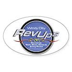 WCRU Oval Sticker (50 pk)