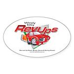 WCRU Oval Sticker (10 pk)