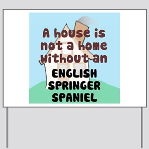 English Springer Home Yard Sign