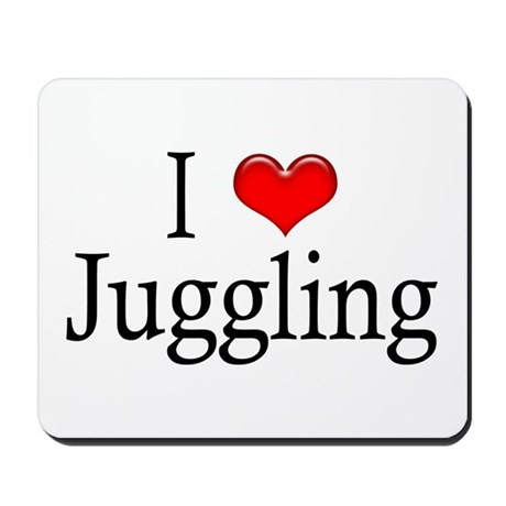 I Heart Juggling Mousepad