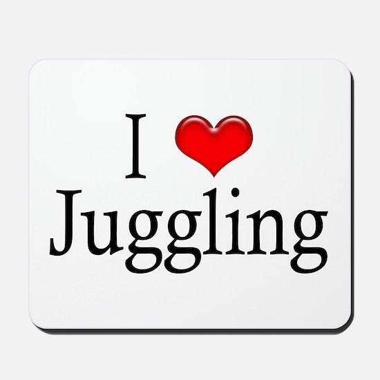 I Heart Juggling Mousepad