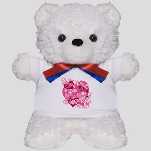 Love is Contagious Abstract Teddy Bear