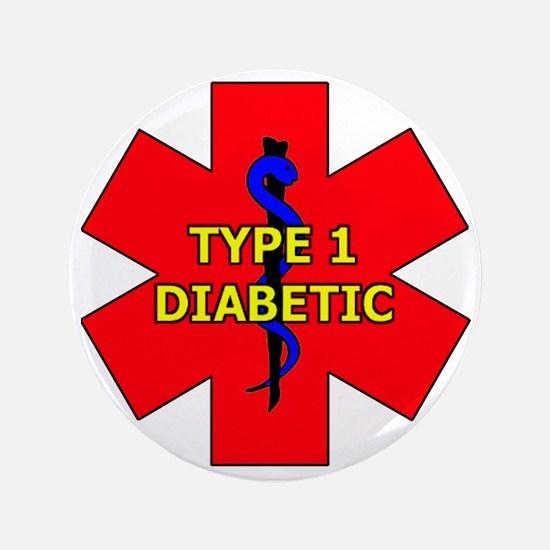 """Cute Diabetic 3.5"""" Button"""