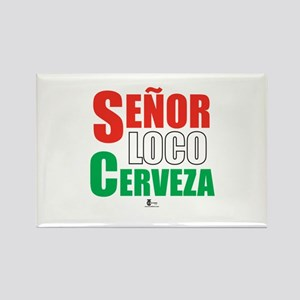 Senor Loco Cerveza Rectangle Magnet