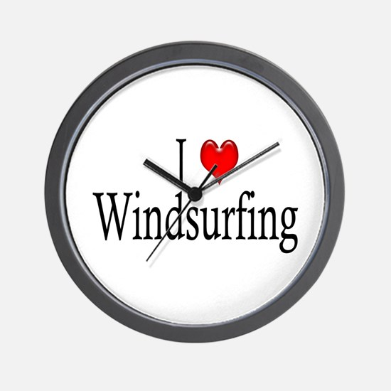 I Heart Windsurfing Wall Clock