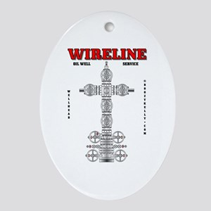 Wireline Oil Well Service Oval Ornament
