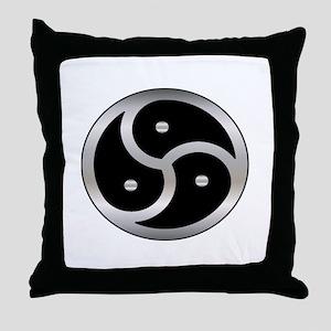 BDSM Femdom Triskelion symbol Throw Pillow