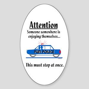 Fun Police Oval Sticker